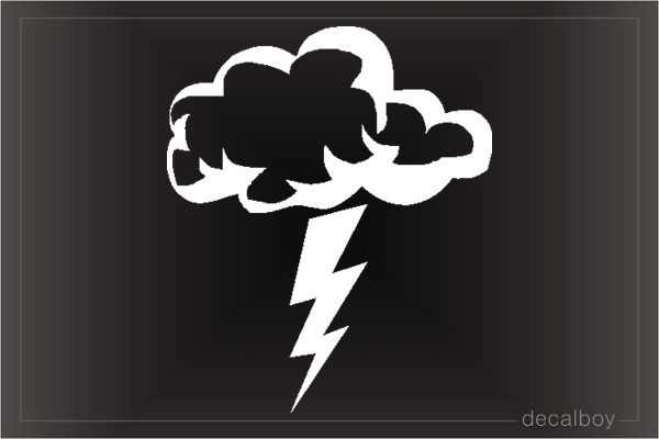 Lightning Cloud Thunderstorm Car Decal