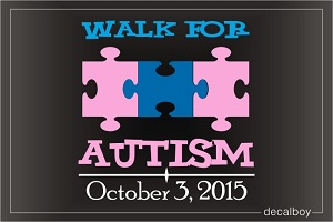 Walk For Autism Decal