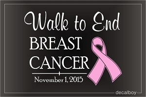 Walk For Breast Cancer Decal