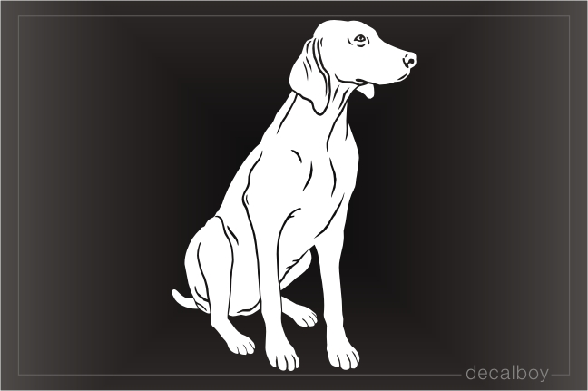 Weimaraner Pointer Dog Sitting Decal
