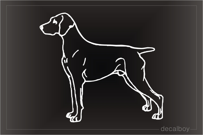 Weimaraner Car Window Decal