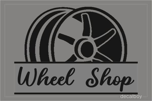 Wheel Shop Logo Decal