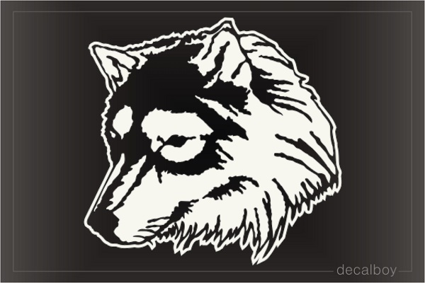 Wolf Head Window Decal