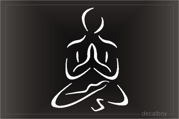 Yoga Car Window Decal