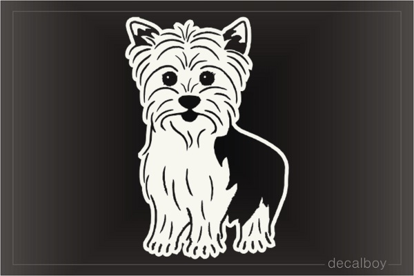 Yorkie Puppy Decal