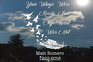Your Wings Were Ready Car Decal