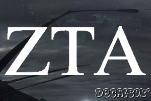 Zeta Tau Alpha Vinyl Die-cut Decal