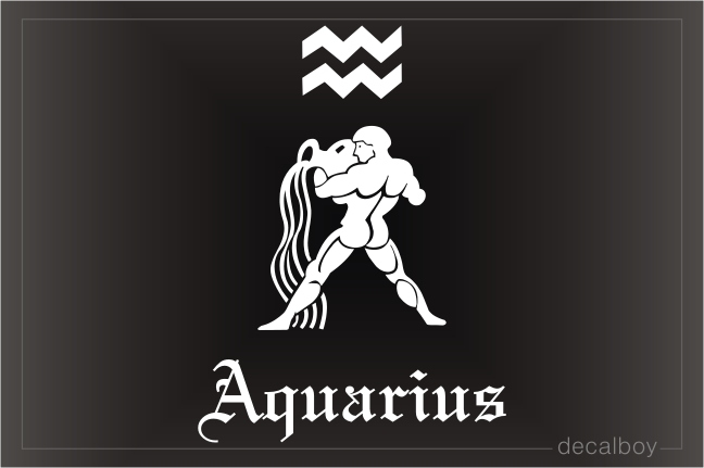 Aquarius Watercarrier Auto Window Decal