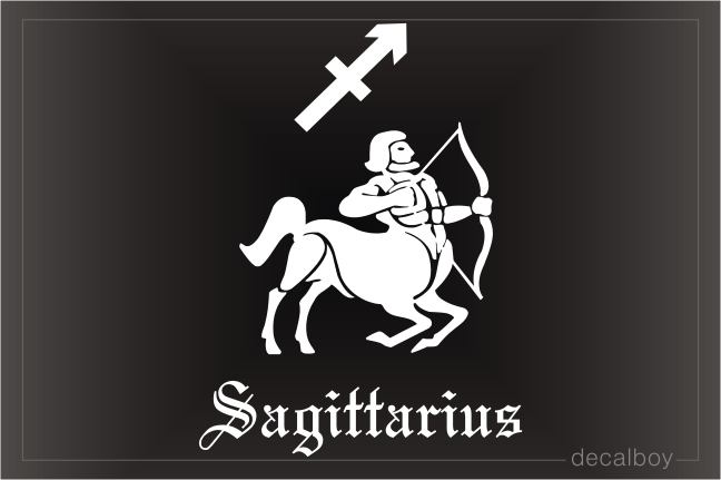Sagittarius Archer Auto Window Decal