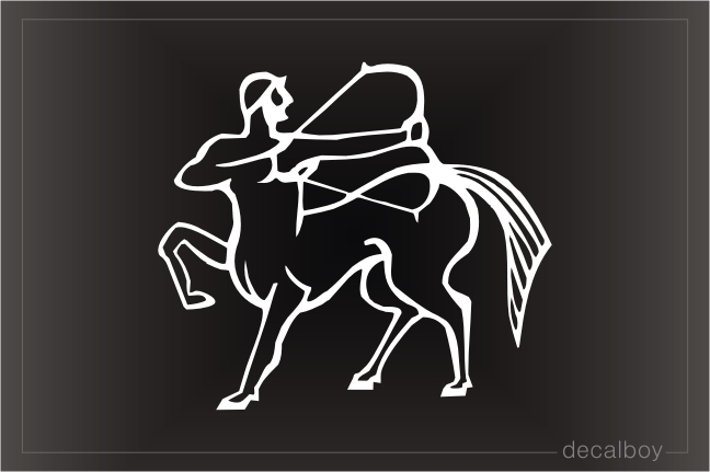 Sagittarius Archer 4 Auto Window Decal