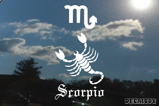 Scorpion Zodiac Horoscope Auto Window Decal