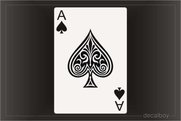 Ace Of Spades Card Decal