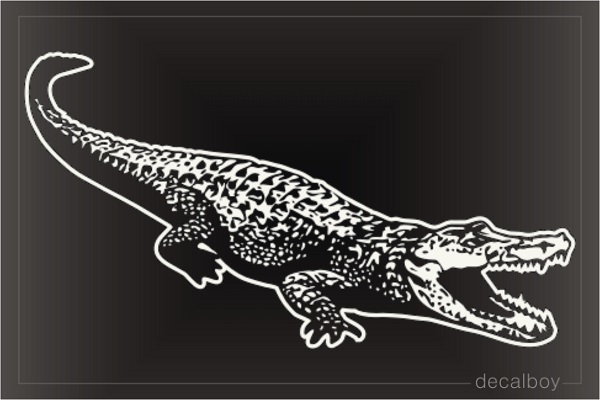 Alligator Crocodile Window Decal