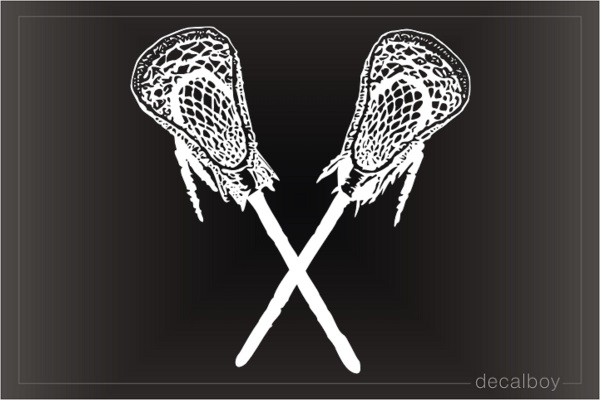 American Indian Lacrosse Window Decal