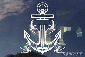 Anchor Ribbon Decal