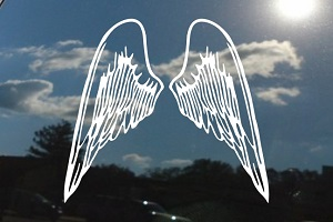 Angel Wings Tattoo Window Decal