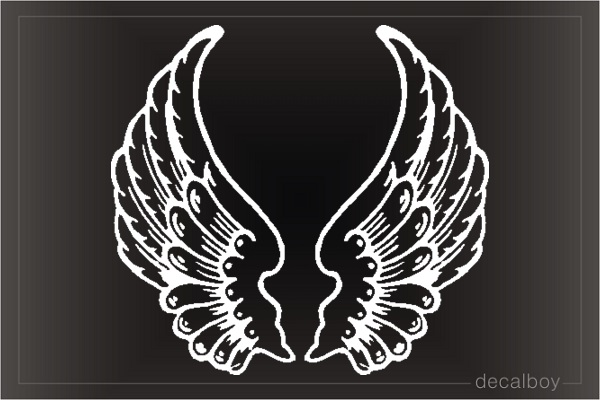 Angel Wings Flying Window Decal