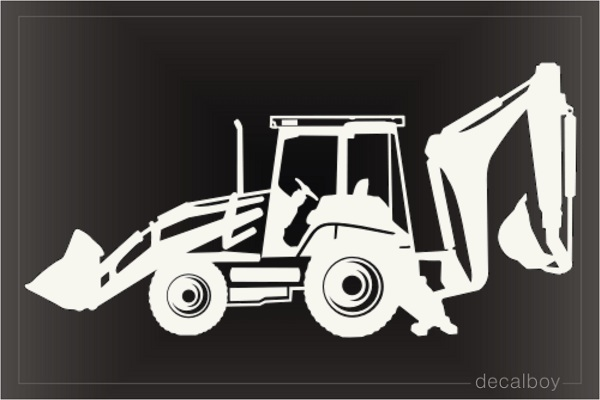 Backhoe Tractor Car Decal