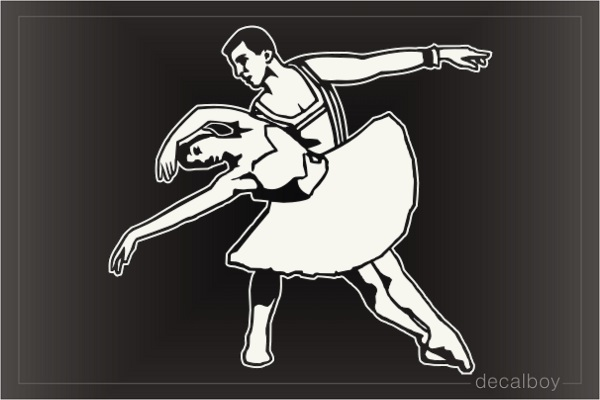 Ballet Dancer Pair Car Window Decal