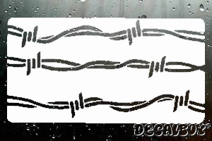 Barbed Wire Decals  Stickers Decalboy - Barb wire custom vinyl decals for trucks