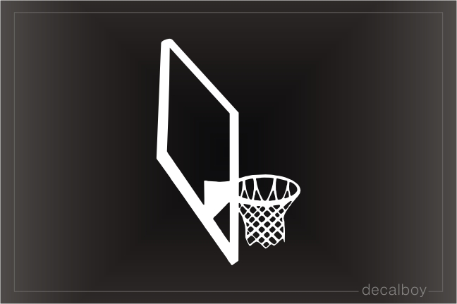 Basketball Hoop Decal