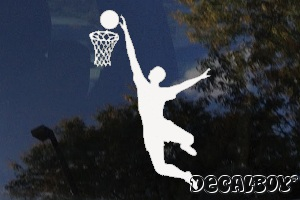 Basketball Jump Window Decal