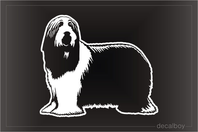 Bearded Collie Dog Decal