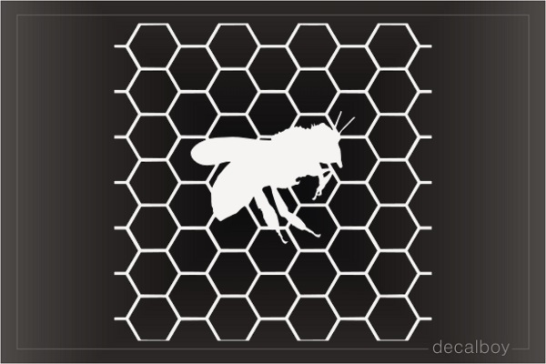 Beecomb Bee Decal
