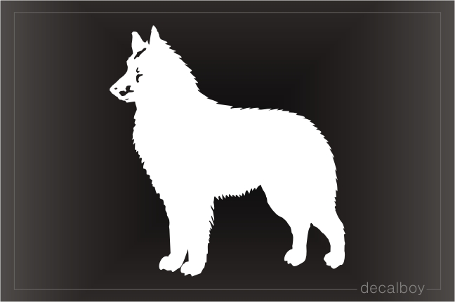 Belgian Shepherd Sheep Dog Window Decal