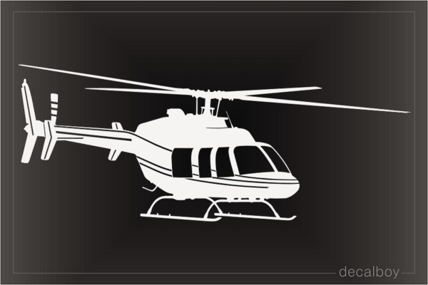 Bell 407 Helicopter Decal