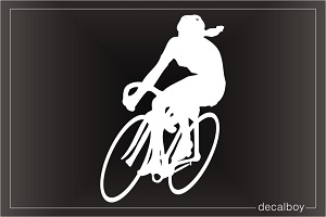 Biking Cycling Window Decal