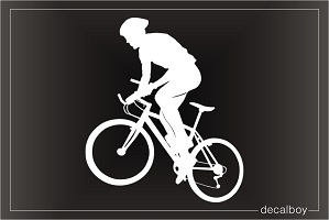 Bicyclist Window Decal