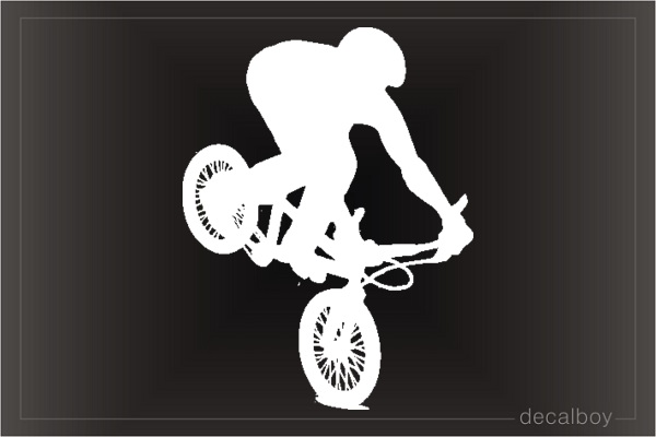 Bmx Bicycle Window Decal