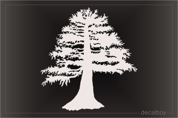 Bold Cypress Tree Decal
