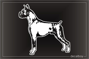 Boxer Dog Car Window Decal