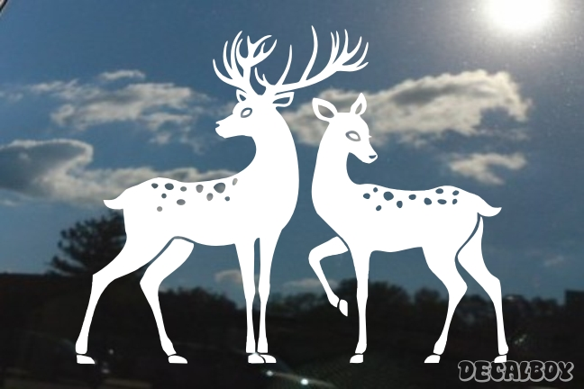 Buck And Doe Decal