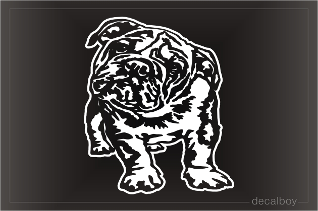 Bulldog Puppy Decal
