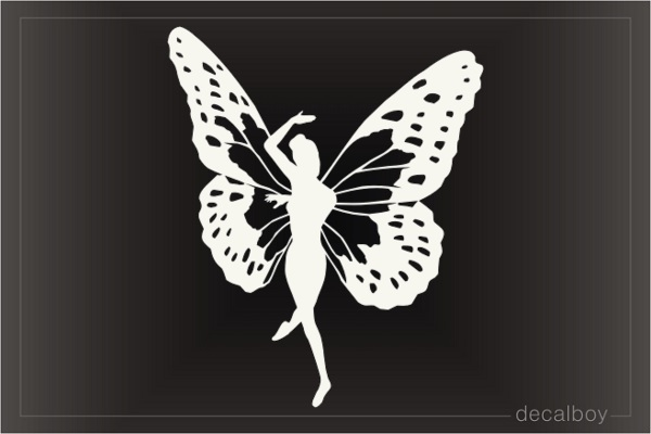 Butterfly Girl Woman Decal