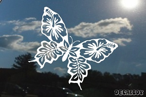 Butterfly Hibiscus Inside Decal