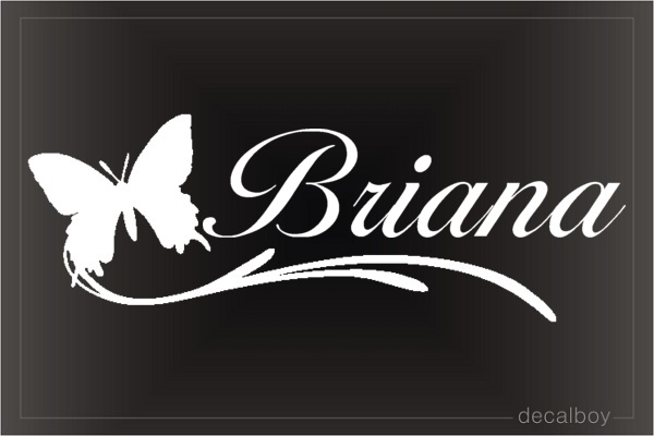 Butterfly With Name Decal