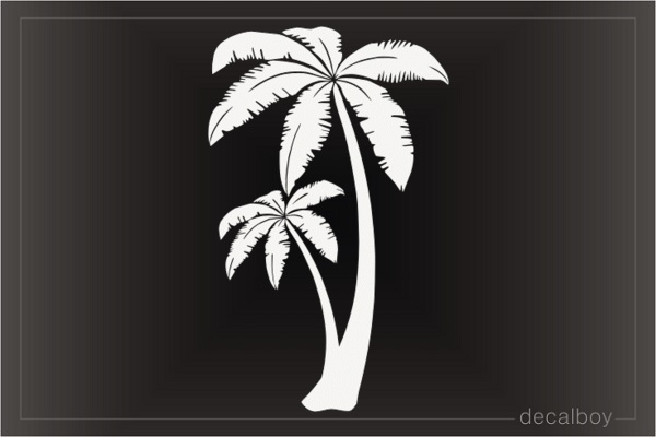 Cartoon Palm Trees Pair Decal