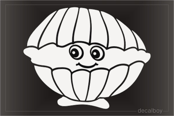 Cartoon Pearl Shell Decal
