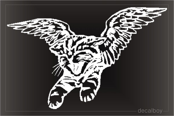 Cat Angel Window Decal
