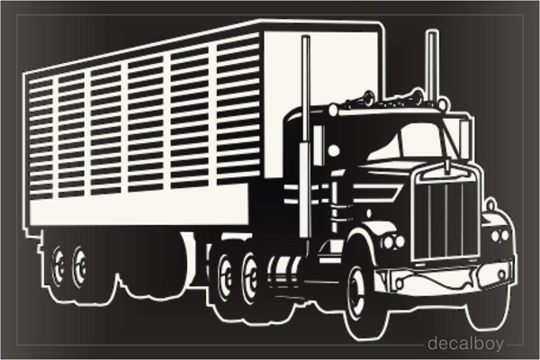 Cattle Hauler Truck Car Decal