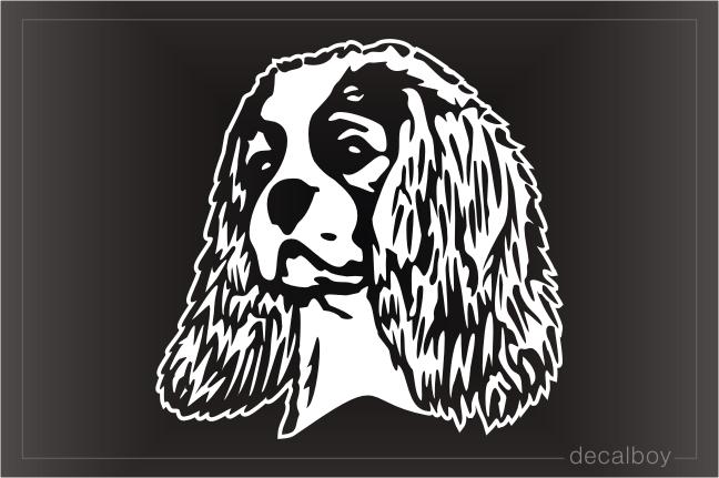 Springer Spaniel Dog Breed Oval Vinyl Car Decal Black /& White Sticker