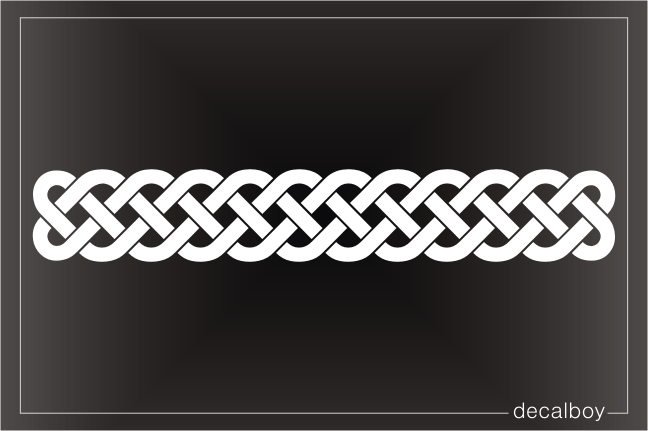 Celtic Knot Line Decal