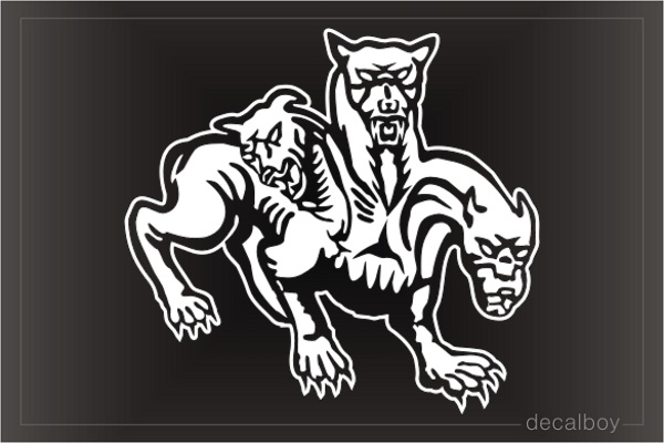 Cerber Mythology Deviant Art Car Decal