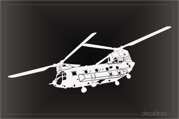 CH 47 Chinook Helicopter Decal