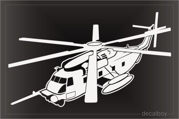 Ch53e Super Stallion Helicopter Decal