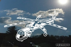 Ch54 Skycrane Helicopter Car Decal